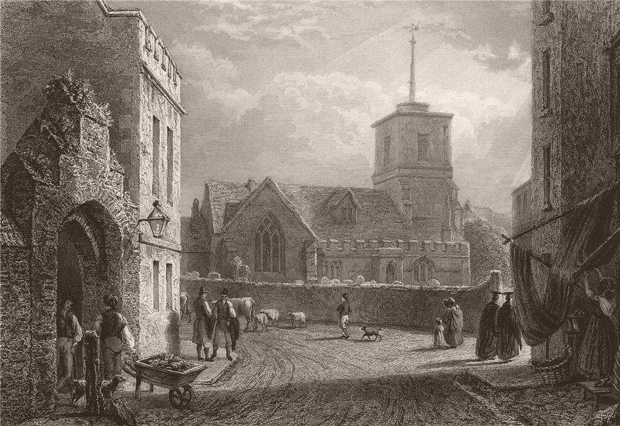 Associate Product CAMBRIDGE. St. Andrew's Church. LE KEUX 1841 old antique vintage print picture