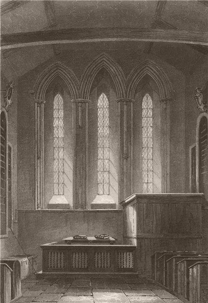 Associate Product CAMBRIDGE. Barnwell Church, Interior of the East end. LE KEUX 1841 old print