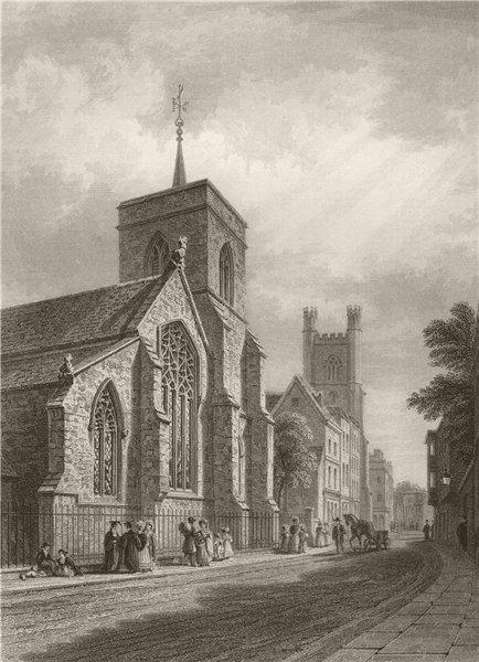Associate Product CAMBRIDGE. St. Michaels Church. LE KEUX 1841 old antique vintage print picture