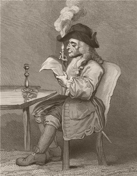 Associate Product 'The Politician'. After William HOGARTH 1833 old antique vintage print picture