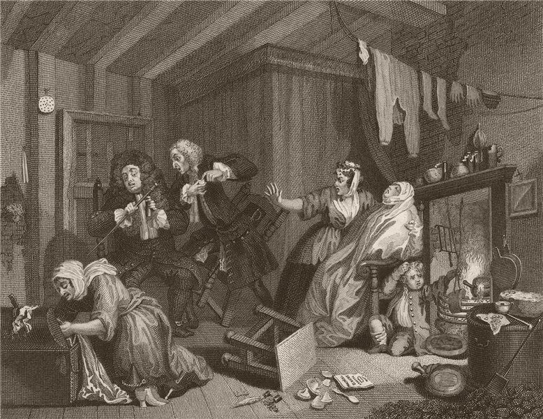 Associate Product HARLOT'S PROGRESS. 'Expires while doctors are disputing'. Pl 5. HOGARTH 1833