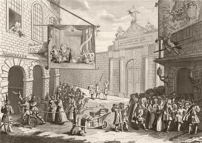Associate Product 'Masquerades and Operas, Burlington gate'. After William HOGARTH 1833 print