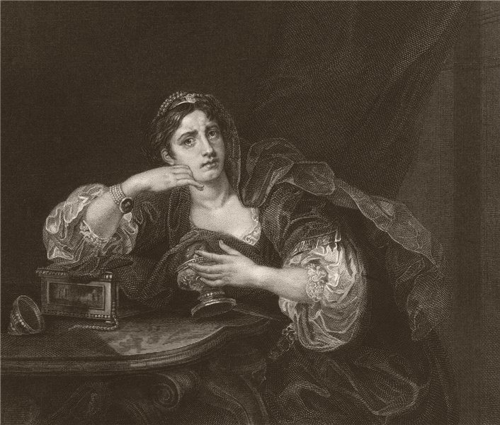 Associate Product 'Sigismonda, with the heart of her husband'. After William HOGARTH 1833 print