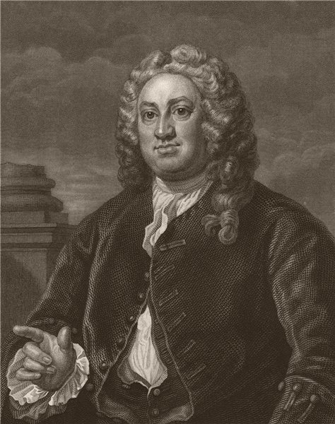 Associate Product 'Martin Folkes Esq.'. After William HOGARTH 1833 old antique print picture