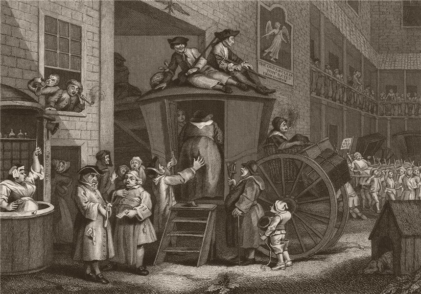 Associate Product 'Country inn Yard '. After William HOGARTH 1833 old antique print picture