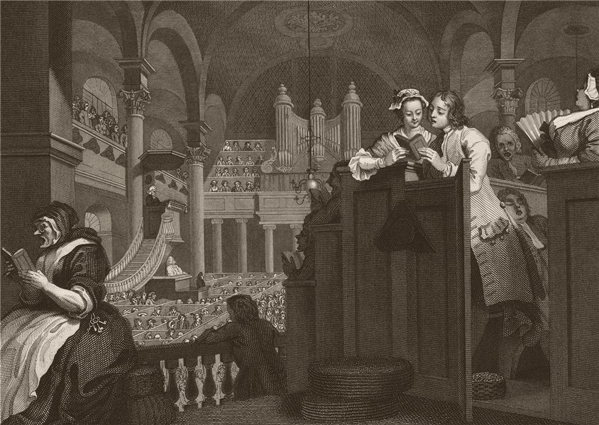 Associate Product INDUSTRY & IDLENESS. Industrious prentice doing Christian duty. HOGARTH 1833