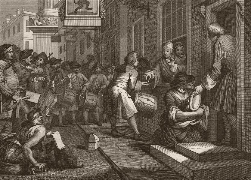 Associate Product INDUSTRY & IDLENESS. Industrious 'prentice / Master's daughter. HOGARTH 1833