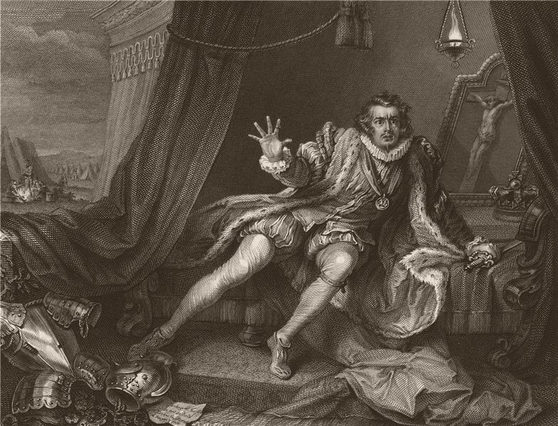 Associate Product 'Garrick; in the character of Richard the Third'. After William HOGARTH 1833