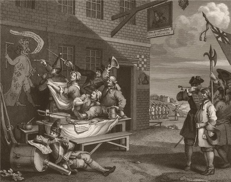 Associate Product 'England '. After William HOGARTH 1833 old antique vintage print picture