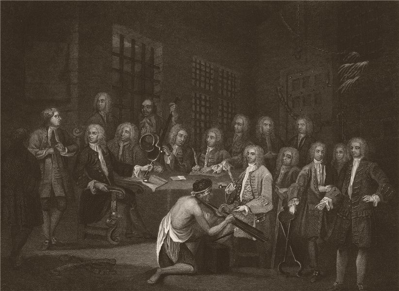 Associate Product 'Bambridge on trial for murder'. House of Commons. HOGARTH 1833 old print