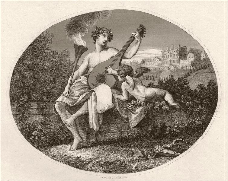 Associate Product 'Hymen and Cupid'. After William HOGARTH 1833 old antique print picture