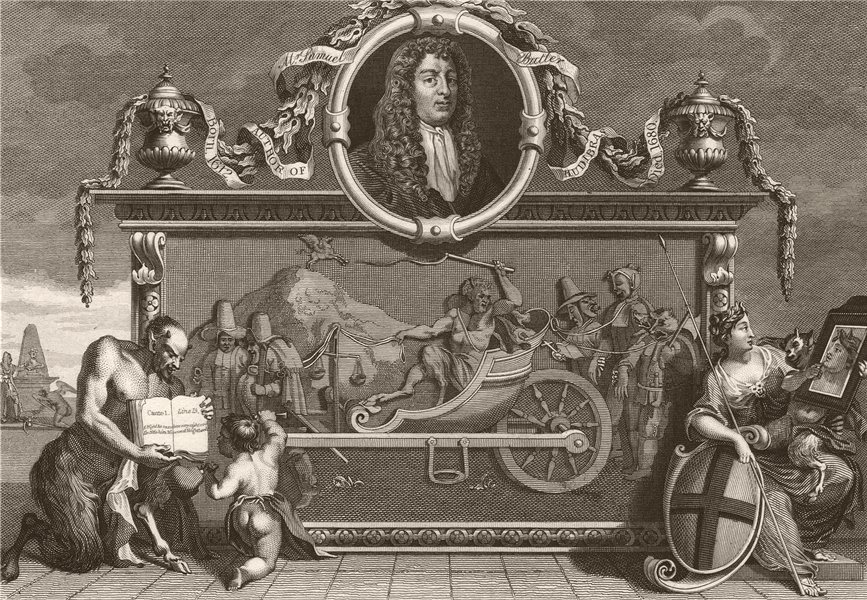 Associate Product HUDIBRAS. 'Frontispiece'. After William HOGARTH 1833 old antique print picture