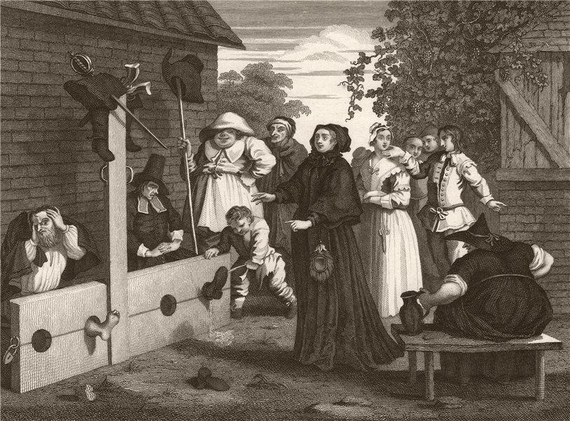 Associate Product HUDIBRAS. 'Hudibras and Ralpho in the Stacks'. After William HOGARTH 1833