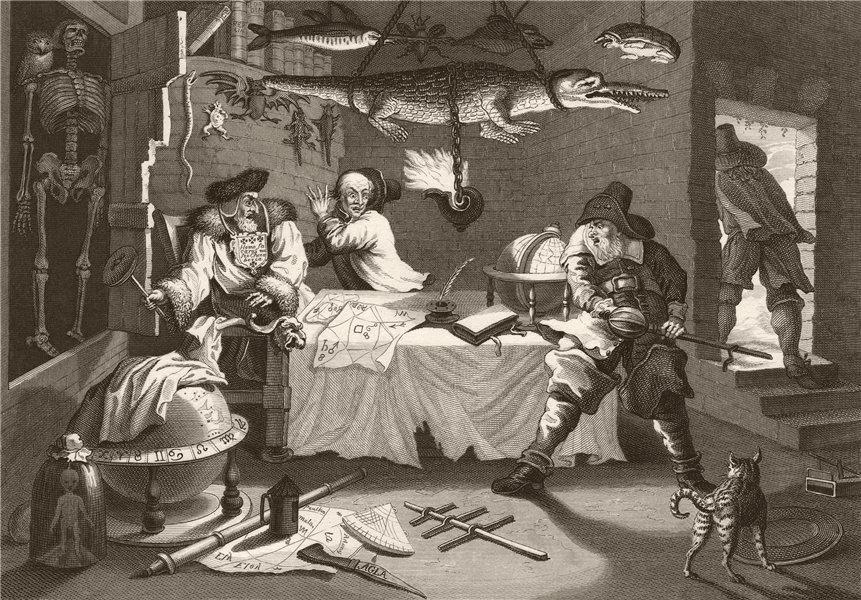 Associate Product HUDIBRAS. 'Beats Sidrophel and his man Whachum'. After William HOGARTH 1833