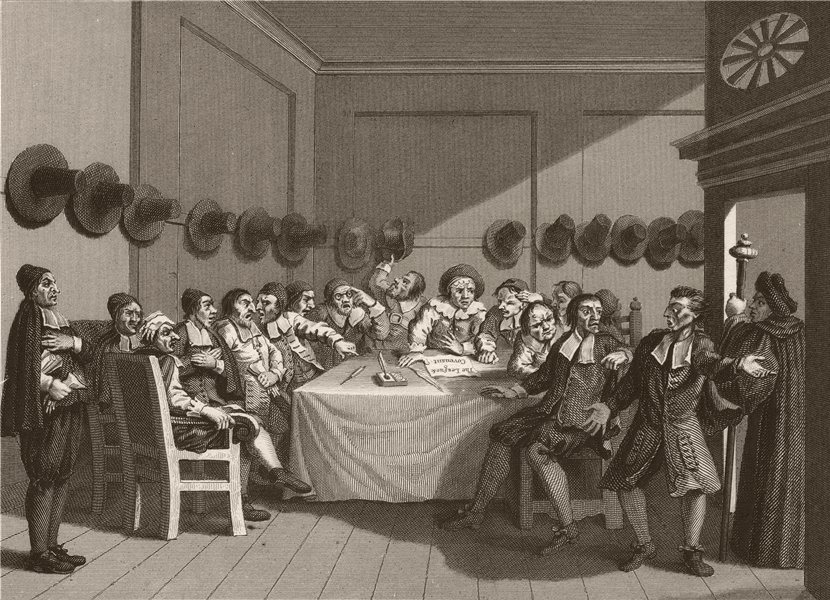 Associate Product HUDIBRAS. 'The Committee'. After William HOGARTH 1833 old antique print