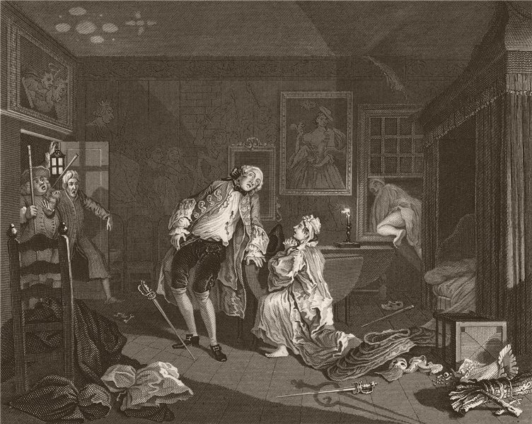 Associate Product MARRIAGE A LA MODE. 'Death of the Earl'. After William HOGARTH 1833 old print