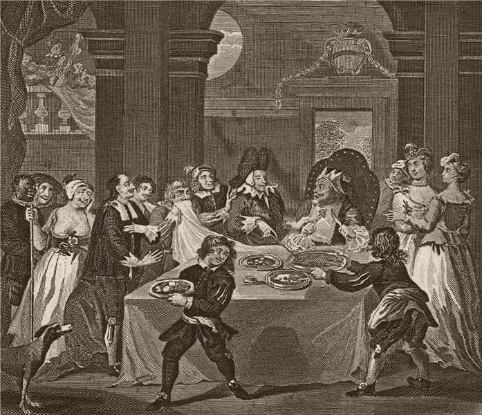 Associate Product 'Sancho at the feast starved by his physician'. After William HOGARTH 1833