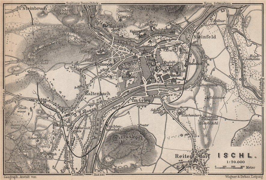 Associate Product BAD ISCHL antique town city plan stadtplan. Austria Österreich karte 1896 map
