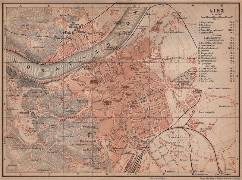 Associate Product LINZ antique town city plan stadtplan. Austria Österreich karte 1905 old map