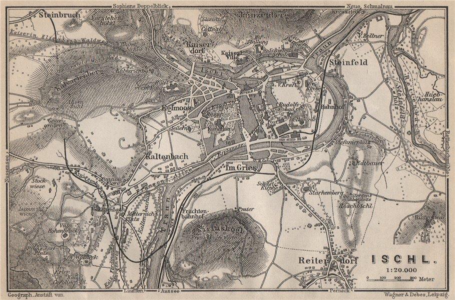 Associate Product BAD ISCHL antique town city plan stadtplan. Austria Österreich karte 1905 map