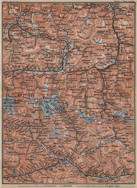 Associate Product HOHE TAUERN Kitzbuhel Bad Gastein Lienz Berchtesgaden Grossglockner 1905 map