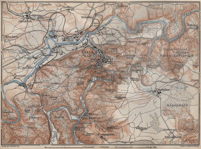 Associate Product KARLOVY VARY (CARLSBAD KARLSBAD) environs Brezova Stara Role Czech Rep 1905 map