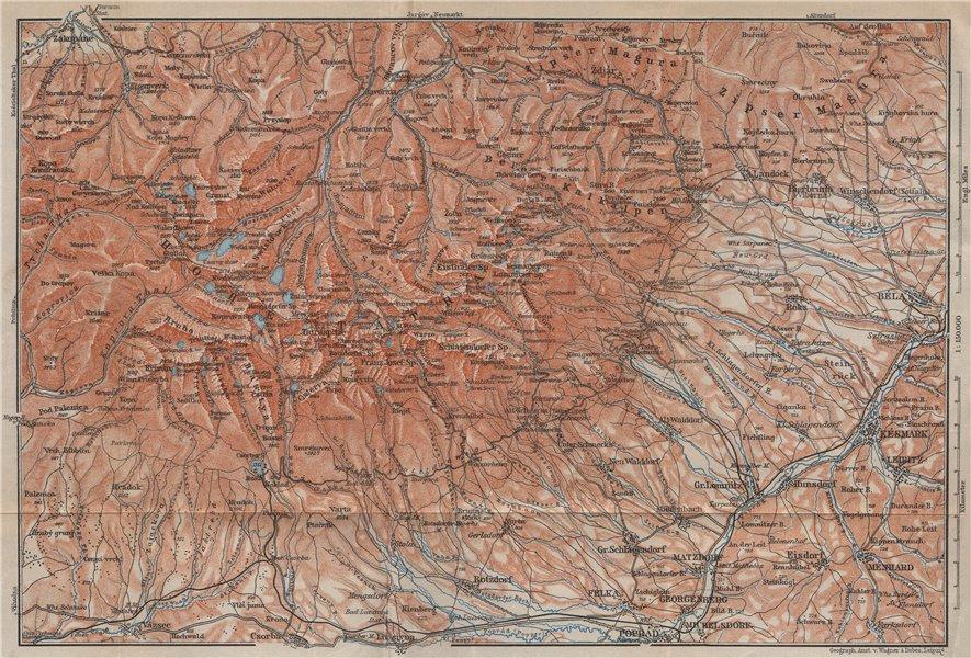 Associate Product TATRA MOUNTAINS Zakopane Zdiar Poprad. Vysoke Tatry. Poland Slovakia 1905 map