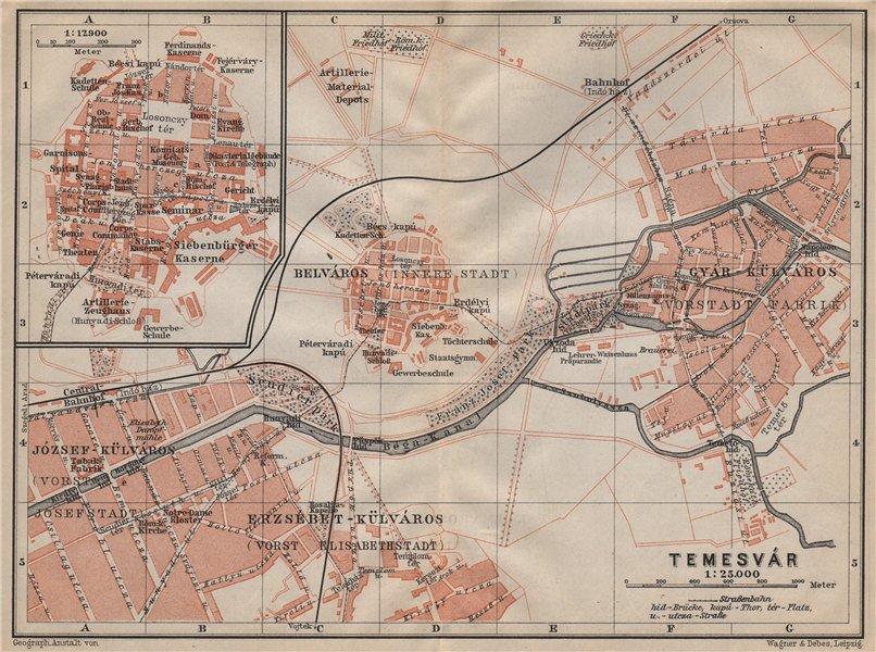 Associate Product TIMISOARA town city planul orasului. Temeswar Temesvar. Romania harta 1905 map