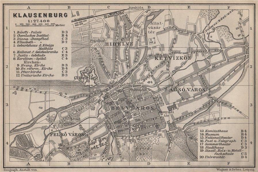 Associate Product CLUJ-NAPOCA town city planul orasului. Klausenburg  Kolozsvar. Romania 1905 map