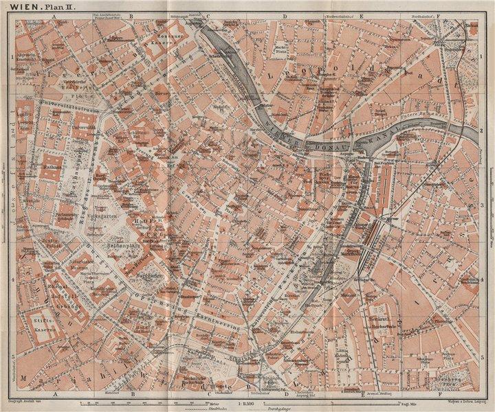 Associate Product VIENNA city centre. WIEN Burg. Town plan stadtplan. Austria Österreich 1929 map