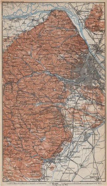 Associate Product VIENNA WIEN environs umgebung. Klosterneuburg Tiergarten Laxenburg 1929 map