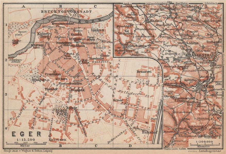 EGER vintage town city plan. Erlau Jagier Jager. Hungary terkep 1929 old map