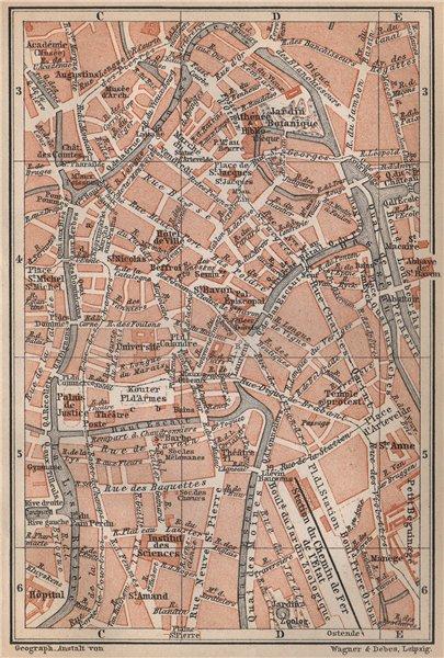 Associate Product GHENT GENT GAND antique town centre. City plan. Belgium carte 1897 old map