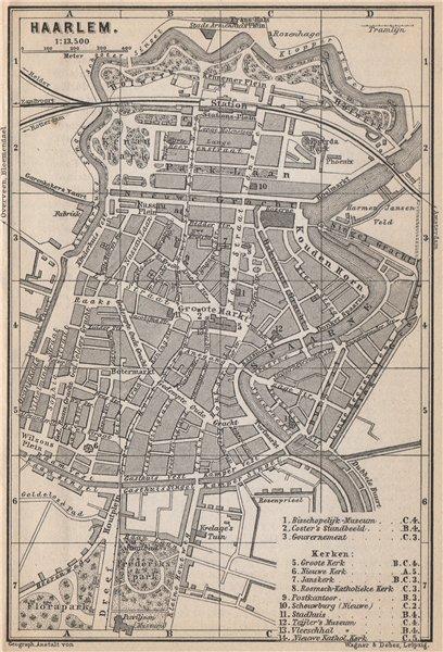 Associate Product HAARLEM antique town city stadsplan. Harlem. Netherlands kaart 1897 old map