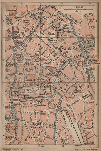 Associate Product GHENT GENT GAND antique town centre. City plan. Belgium carte 1901 old map