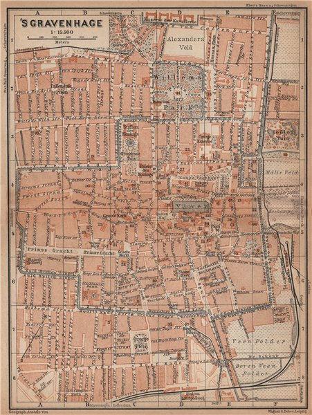 Associate Product THE HAGUE DEN HAAG 'S-GRAVENHAGE town city stadsplan. Netherlands 1901 old map