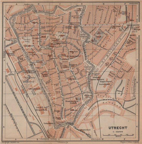 Associate Product UTRECHT antique town city stadsplan. Netherlands kaart. BAEDEKER 1901 old map