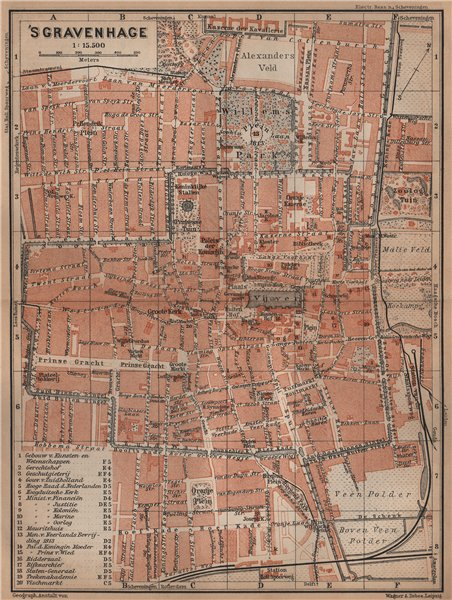 Associate Product THE HAGUE DEN HAAG 'S-GRAVENHAGE town city stadsplan. Netherlands 1905 old map