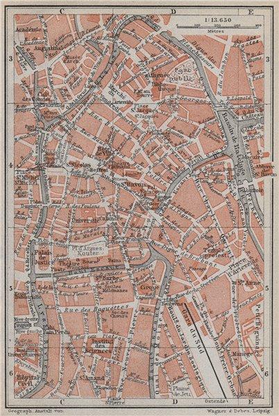 Associate Product GHENT GENT GAND antique town centre. City plan. Belgium carte 1910 old map
