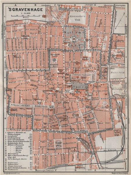 Associate Product THE HAGUE DEN HAAG 'S-GRAVENHAGE town city stadsplan. Netherlands 1910 old map