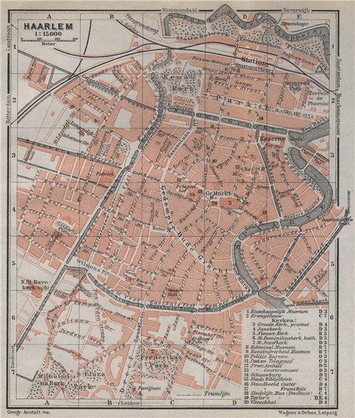 Associate Product HAARLEM antique town city stadsplan. Harlem. Netherlands kaart 1910 old map