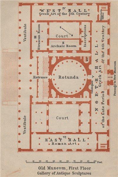 Associate Product ALTES/OLD MUSEUM Berlin. 1st floor plan. Gallery of Antique Sculptures 1910 map