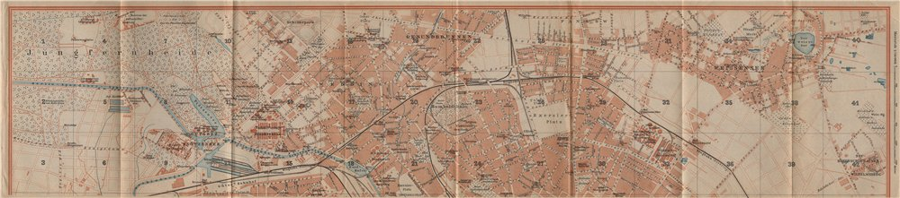 Associate Product BERLIN NORTH town city stadtplan. Gesundbrunnen Wedding Weissensee 1910 map