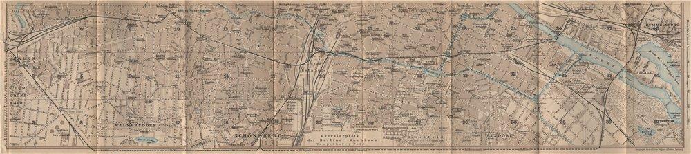 Associate Product BERLIN SOUTH town city stadtplan. Wilmersdorf Halensee Schöneberg 1910 old map