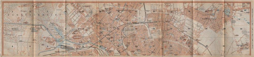 Associate Product BERLIN NORTH town city stadtplan. Gesundbrunnen Wedding Weissensee 1923 map