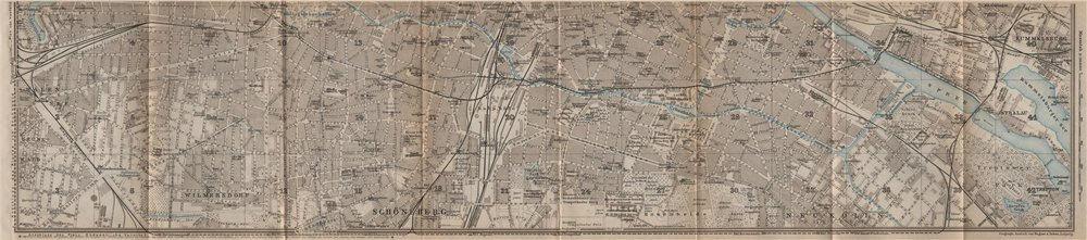 Associate Product BERLIN SOUTH town city stadtplan. Wilmersdorf Halensee Schöneberg 1923 old map