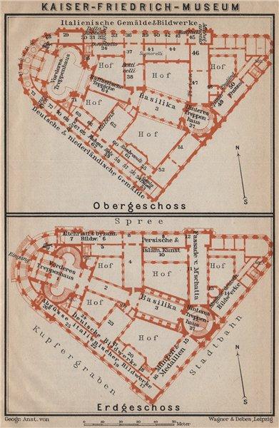 Associate Product BODE MUSEUM, Berlin. Kaiser-Friedrich-Museum. Frederick. Floor plans 1913 map