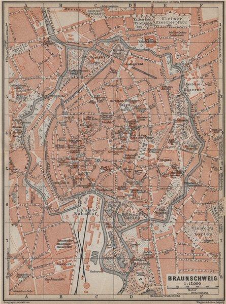 Associate Product BRAUNSCHWEIG town city stadtplan. Brunswick. Lower Saxony karte 1913 old map