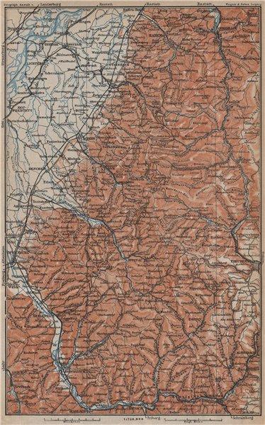 Associate Product NORD-SCHWARZWALD/BLACK FOREST North.Freudenstadt Baden-Baden Offenburg 1913 map