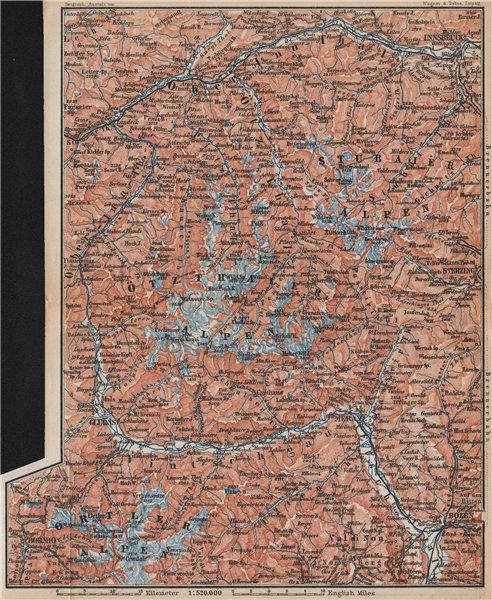 Associate Product TYROL/ UPPER INNTHAL ÖTZTHALER ORTLER STUBAIER ALPEN topo-map. Austria 1899